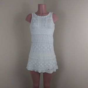 Sequin Hearts White Dress